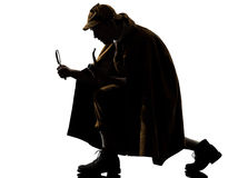 Silhouette de holmes de Sherlock image stock