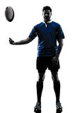 Silhouette de joueur d'homme de rugby image libre de droits