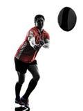 Silhouette de joueur d'homme de rugby Photo libre de droits