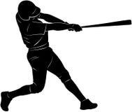 Silhouette de joueur de baseball Photographie stock libre de droits