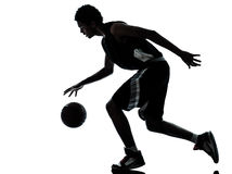 Silhouette de joueur de basket Photos stock