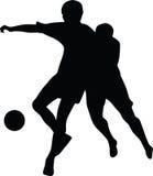 Silhouette de joueur de football   Images stock