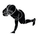 Silhouette de joueurs de football américain de vecteur Image stock