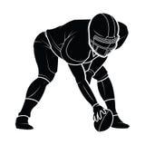 Silhouette de joueurs de football américain de vecteur Image libre de droits
