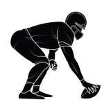 Silhouette de joueurs de football américain de vecteur Photos libres de droits