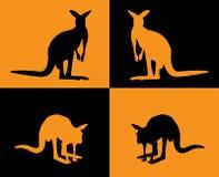 silhouette de kangourou Image stock