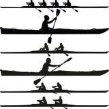 Silhouette de kayak illustration de vecteur