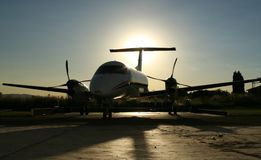 Silhouette de Kingair Photographie stock libre de droits