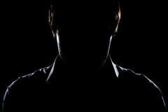 Silhouette de l'homme Photographie stock libre de droits