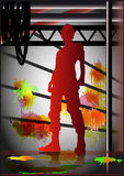 Silhouette de l'homme Image stock