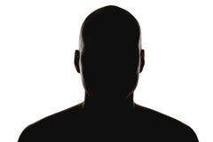 Silhouette de l'homme Photographie stock