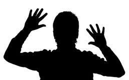 Silhouette de l'homme photo libre de droits
