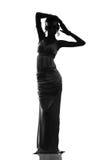 Silhouette de la déesse antique Photos libres de droits