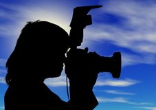 Silhouette de la femme photo stock