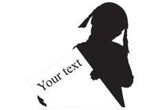 Silhouette de la fille Photos libres de droits