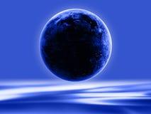 Silhouette de la terre Image stock