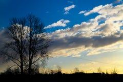 Silhouette de la ville sous le soleil images libres de droits