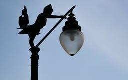 Silhouette de lanterne Photographie stock