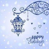 Silhouette de lanterne Images stock
