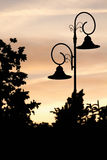 Silhouette de lanterne travaillée Photo stock