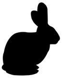 Silhouette de lapin Photographie stock