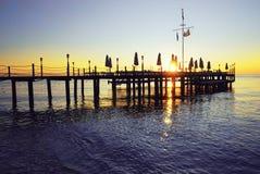Silhouette de lever de soleil Image libre de droits