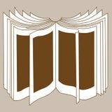 Silhouette de livre d'Openning illustration libre de droits