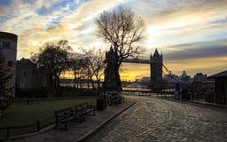 Silhouette de Londres images stock