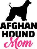 Silhouette de maman de lévrier afghan Photo libre de droits