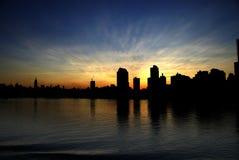 Silhouette de Miami Image libre de droits