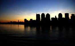 Silhouette 2 de Miami Photos libres de droits
