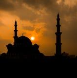 Silhouette de mosquée photographie stock libre de droits