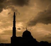 Silhouette de mosquée image libre de droits