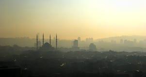 Silhouette de mosquée de Kocatepe Image libre de droits