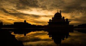 Silhouette de mosquée, Malaisie I images libres de droits