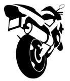 Silhouette de moto Photographie stock libre de droits