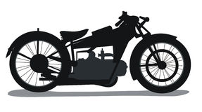 Silhouette de motocyclette Photo stock