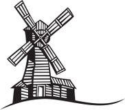 Silhouette de moulin Images stock