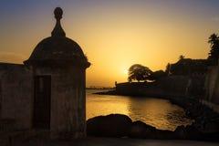 Silhouette de mur de sentinelle Photo libre de droits