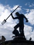silhouette de neptune Image libre de droits