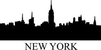 Silhouette de New York image libre de droits