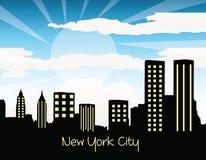 Silhouette de New York City Photographie stock