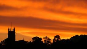Silhouette de notre église Image stock