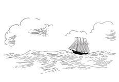 Silhouette de pélerin illustration de vecteur