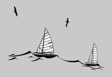Silhouette de pélerins illustration libre de droits
