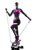 Silhouette de pas de forme physique de femme photo libre de droits
