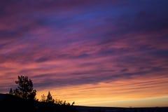 Silhouette de paysage de désert photo stock