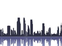 Silhouette de paysage urbain Images libres de droits