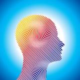 Silhouette de pensée d'homme avec la pensée illustration libre de droits