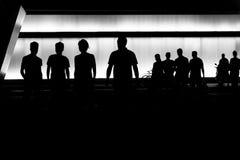 Silhouette de personnes Photographie stock
